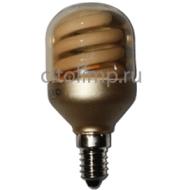 Ecola cylinder 10W DEP/T45 220V E14 золотистый цилиндр 78х45
