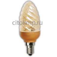 Ecola candle 9W DEA/CTG 220V E14 витая золотистая свеча 98х38