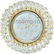 Ecola Light GX53 H4 Glass Круглый с хрусталиками Прозрачный /Золото 56x120 (к+)