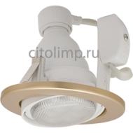 Ecola GU10 DU5085 светильник встраив. поворотный легкий золото 73x85