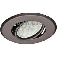 Ecola MR16 DH09 GU5.3 Светильник встр. поворотный плоский (скрытый крепеж лампы) Черный Хром 25x90 (кd74)