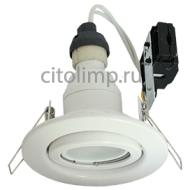 Ecola GU10 FT3008 светильник встраиваемый поворотный белый 40x105