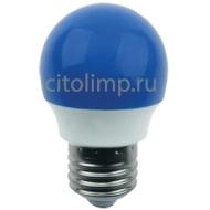 Ecola globe LED color 2,6W G45 220V E27 Blue шар Синий матовая колба 75x45