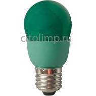 Ecola globe Color 9W 220V E27 Green Зеленый 91x46
