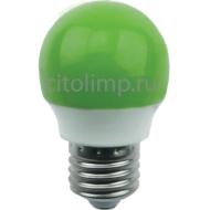 Ecola globe LED color 2,6W G45 220V E27 Green шар Зеленый матовая колба 75x45