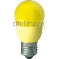 Ecola globe Color 9W 220V E27 Yellow Желтый 91x46