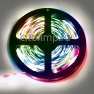 Ecola LED strip PRO 7,2W/m 12V IP20 10mm 30Led/m RGB разноцветная светодиодная лента на катушке 5м.