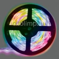 Ecola LED strip PRO 7,2W/m 12V IP65 10mm 30Led/m RGB разноцветная светодиодная лента на катушке 5м.
