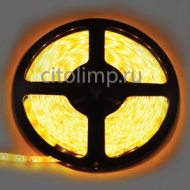 Ecola LED strip PRO 4,8W/m 12V IP65 8mm 60Led/m Yellow желтая светодиодная лента на катушке 5м.