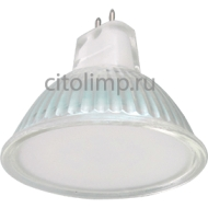 Ecola Light MR16 LED 5,0W 220V GU5.3 6500K матовое стекло 48x50
