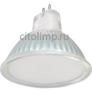 Ecola Light MR16 LED 5,0W 220V GU5.3 4200K матовое стекло 48x50