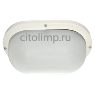 Ecola Light GX53 LED ДПП 03-9-102 светильник Овал накладной 2*GX53 матовое стекло IP65 белый 280х175х105