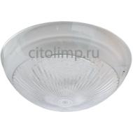 Ecola Light GX70 LED ДПП 03-60-3 светильник Сириус Круг накладной IP65 1*GX70 прозрачный белый 220х220х100