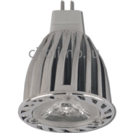 Ecola Light MR16 LED 6,0W 220V GU5.3 2800K 38° (ребристый алюм. радиатор) 66х50