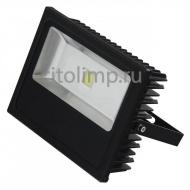 HL166L Светодиодный прожектор 70W 6500K COB LED Черный ☼70Вт.