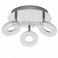 HL7140L Светодиодный светильник потолочный 3*5W 3000К Хром ☼15Вт.