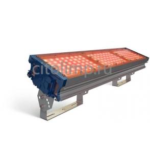 Светодиодный светильник (янтарный) tl-prom 150 pr plus fl (к) amber 144Вт. 5200Лм. IP67