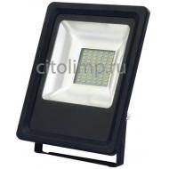 HL177LE Светодиодный прожектор 30W 6400K Черный ☼30Вт.