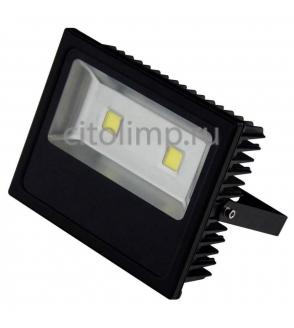 HL167L Светодиодный прожектор 100W 6500K COB LED Черный ☼100Вт.
