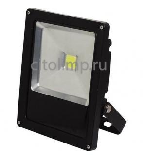 HL177L Светодиодный прожектор 30W 6400K COB LED Черный ☼30Вт.